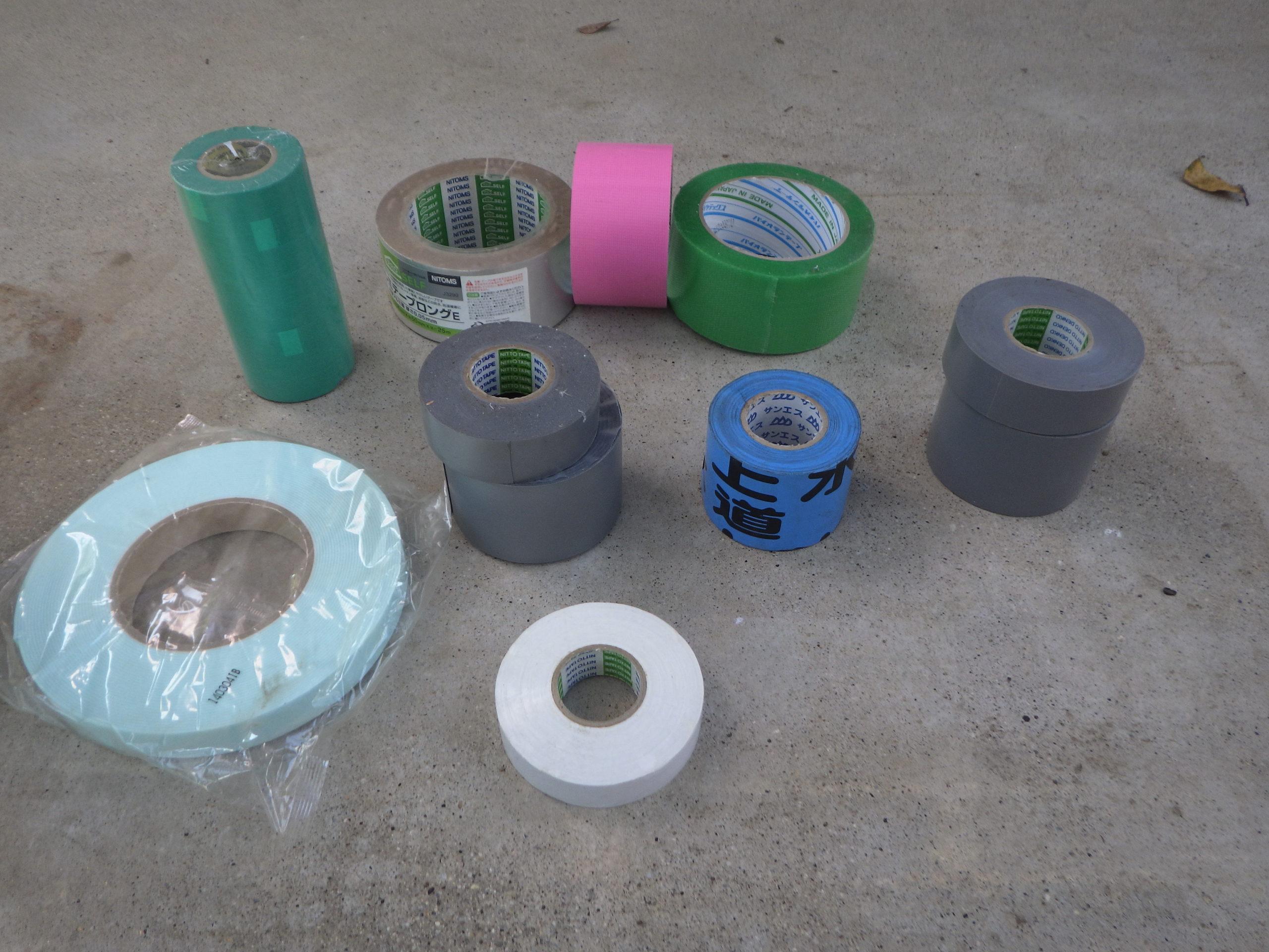 【水道屋さんの使う消耗品】をご紹介! テープ類